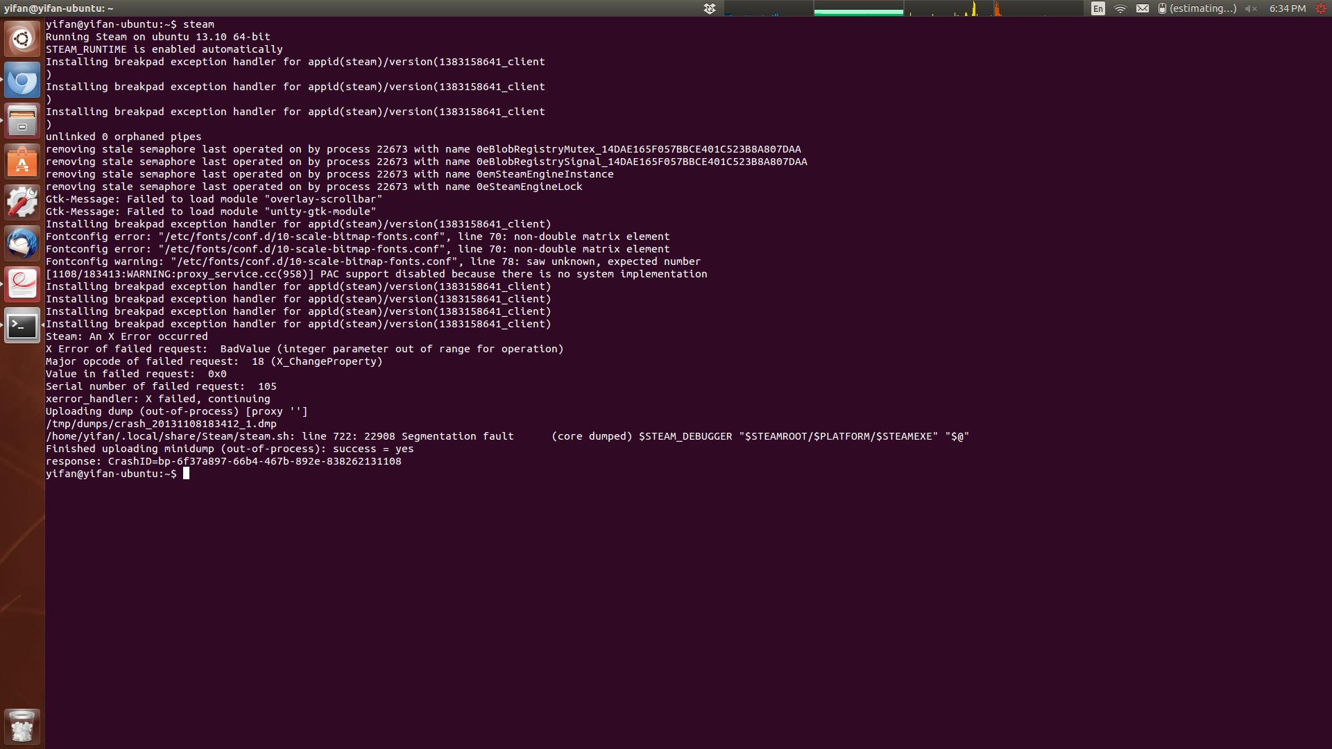 Steam client crash on Ubuntu 13 10 · Issue #2986 · ValveSoftware