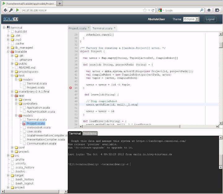 ScalaIde Screenshot bigger Project