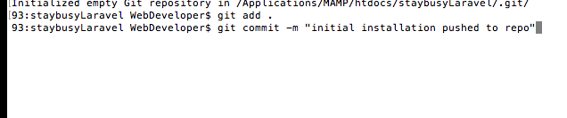 commit and add a commit message
