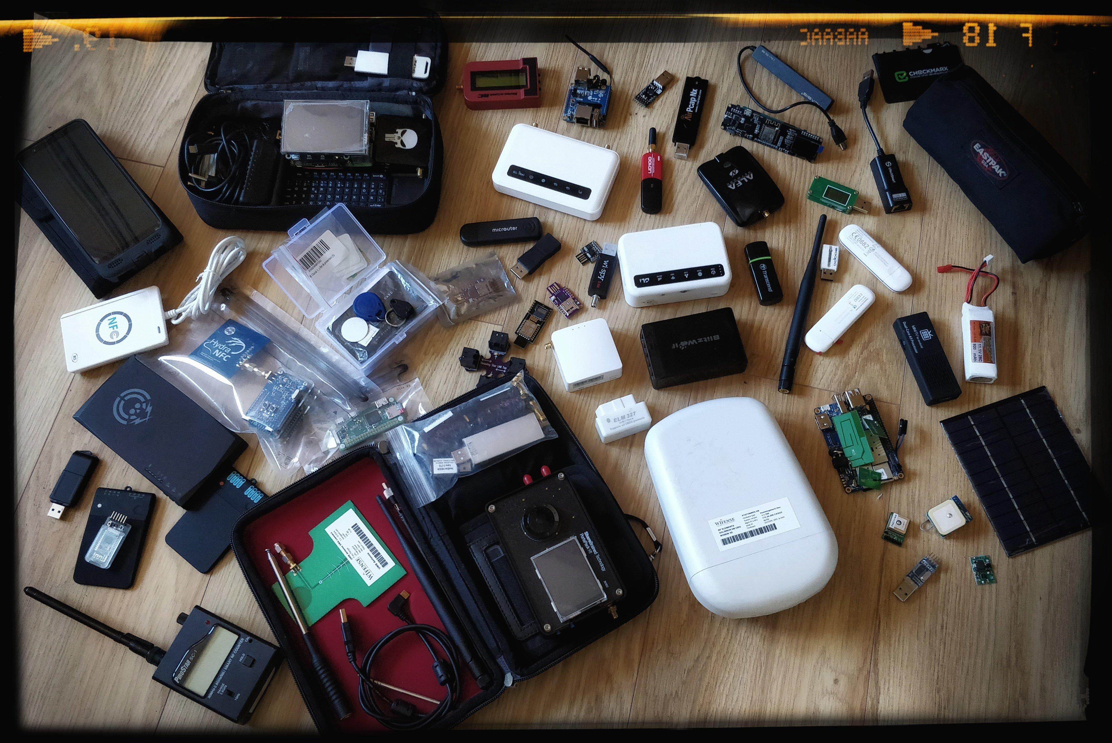 Any hacker has a lot of tools, like I do!