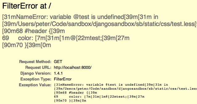 ugly errors