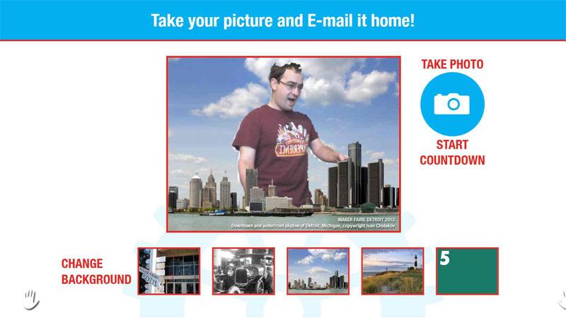 A licensed image of Detroit with the default Kinect Depth Mask including postblur