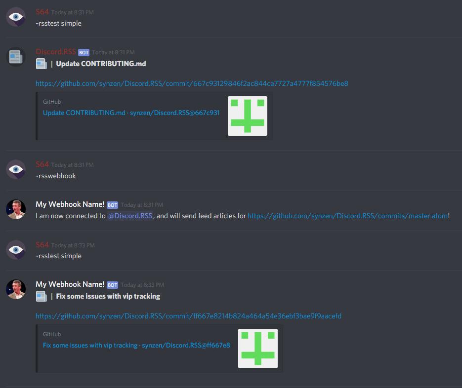 Webhook Integration · synzen/Discord RSS Wiki · GitHub