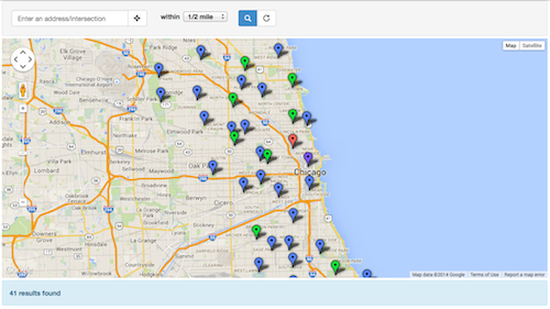 searchable map template iframe screenshot