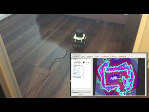 ROS 2 Navigation with RasPi Mouse and RPLiDAR A1M8
