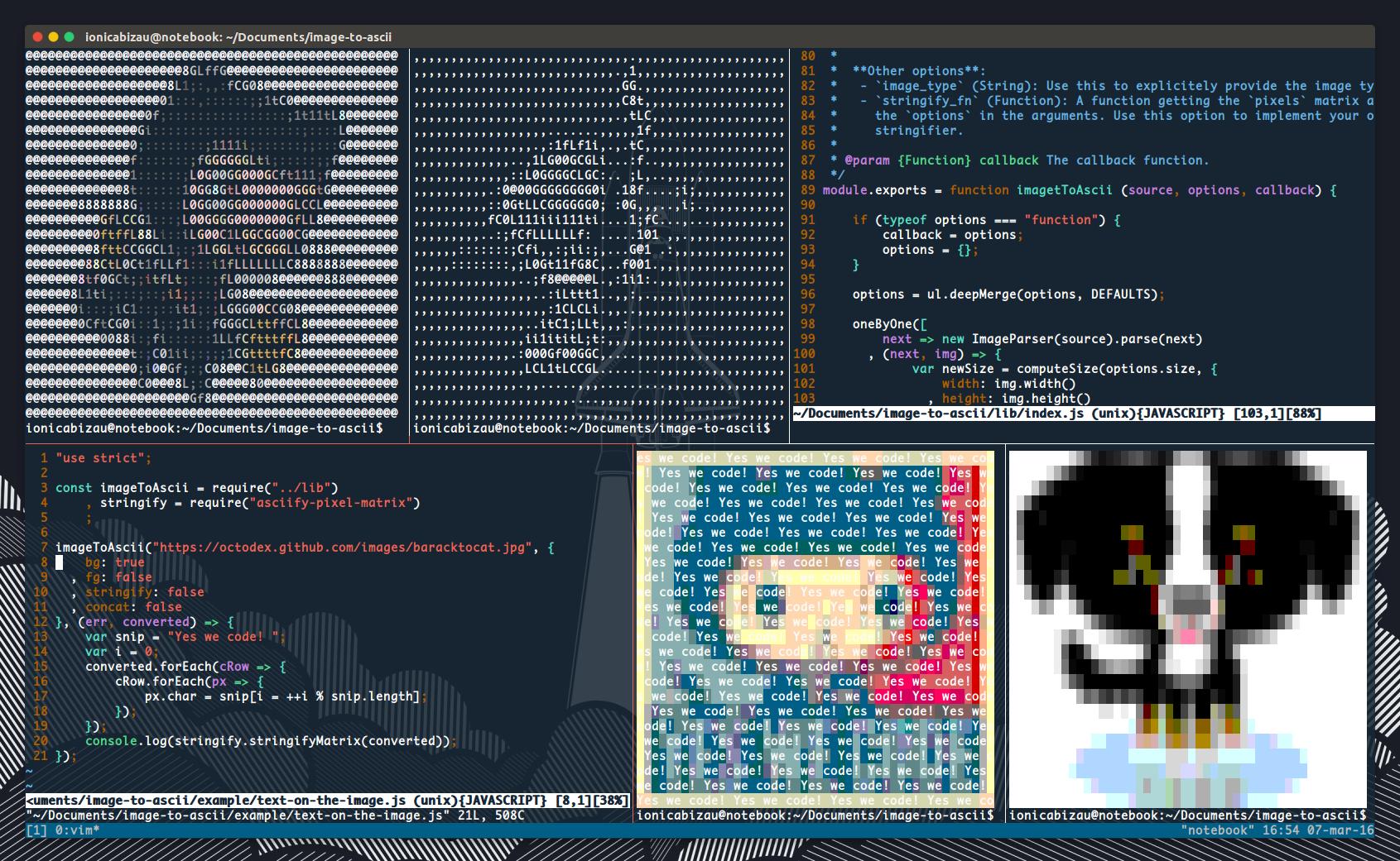 GitHub - IonicaBizau/image-to-ascii: A Node js module that