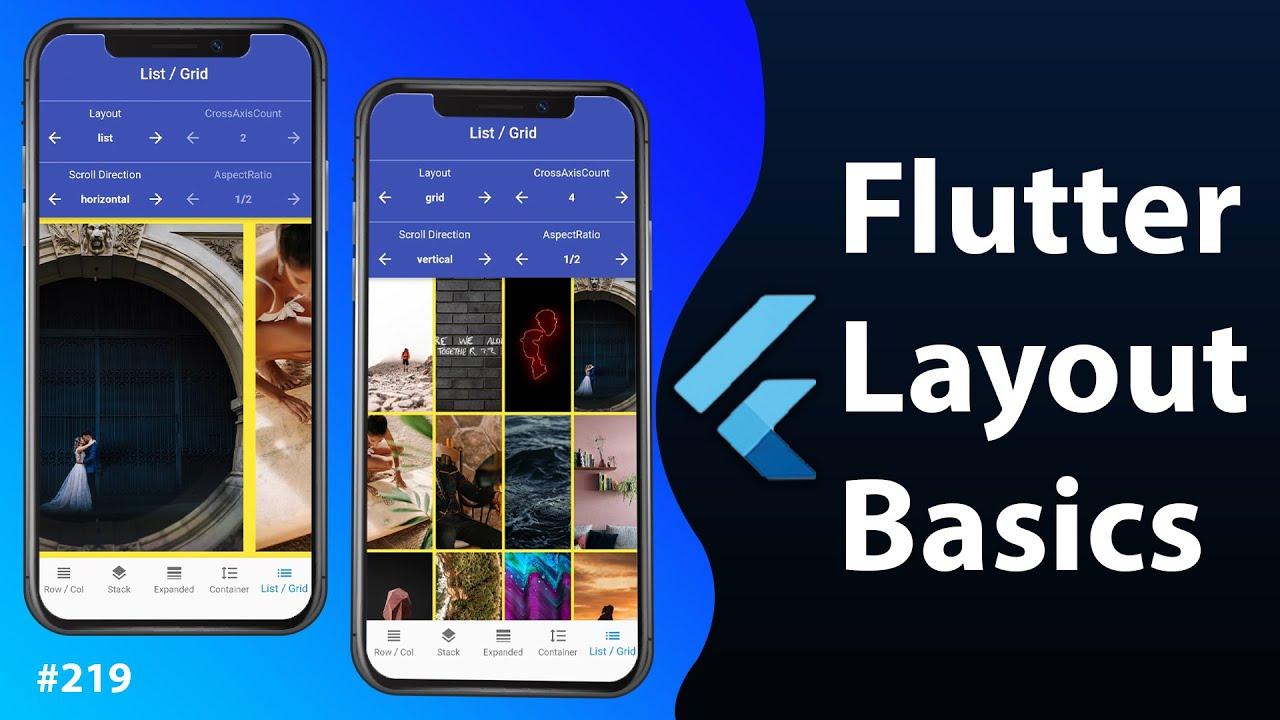 Flutter Tutorial - Flutter Layout Basics YouTube video