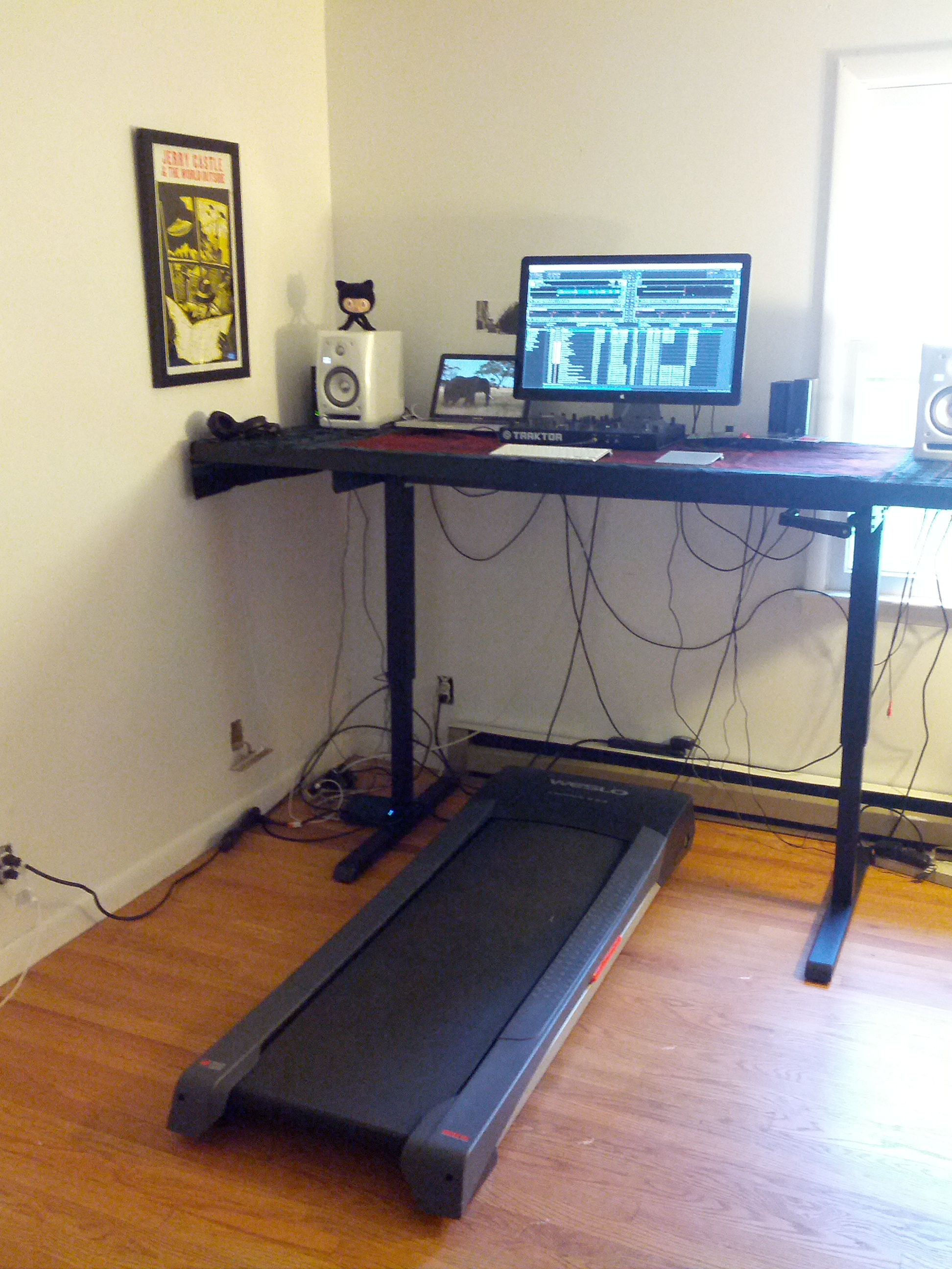 more with views desk function under lx incline walker walking office treadmill