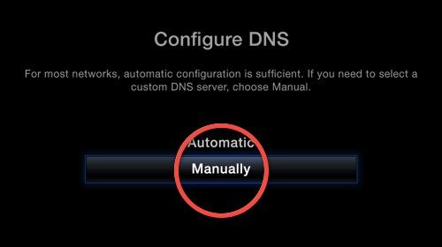5.2 select to configure DNS manually