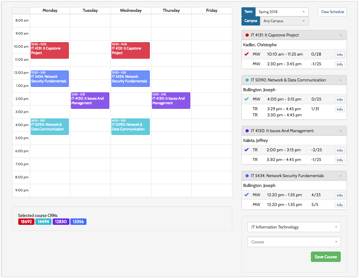 github kaitiggy mygs schedule builder a college course schedule