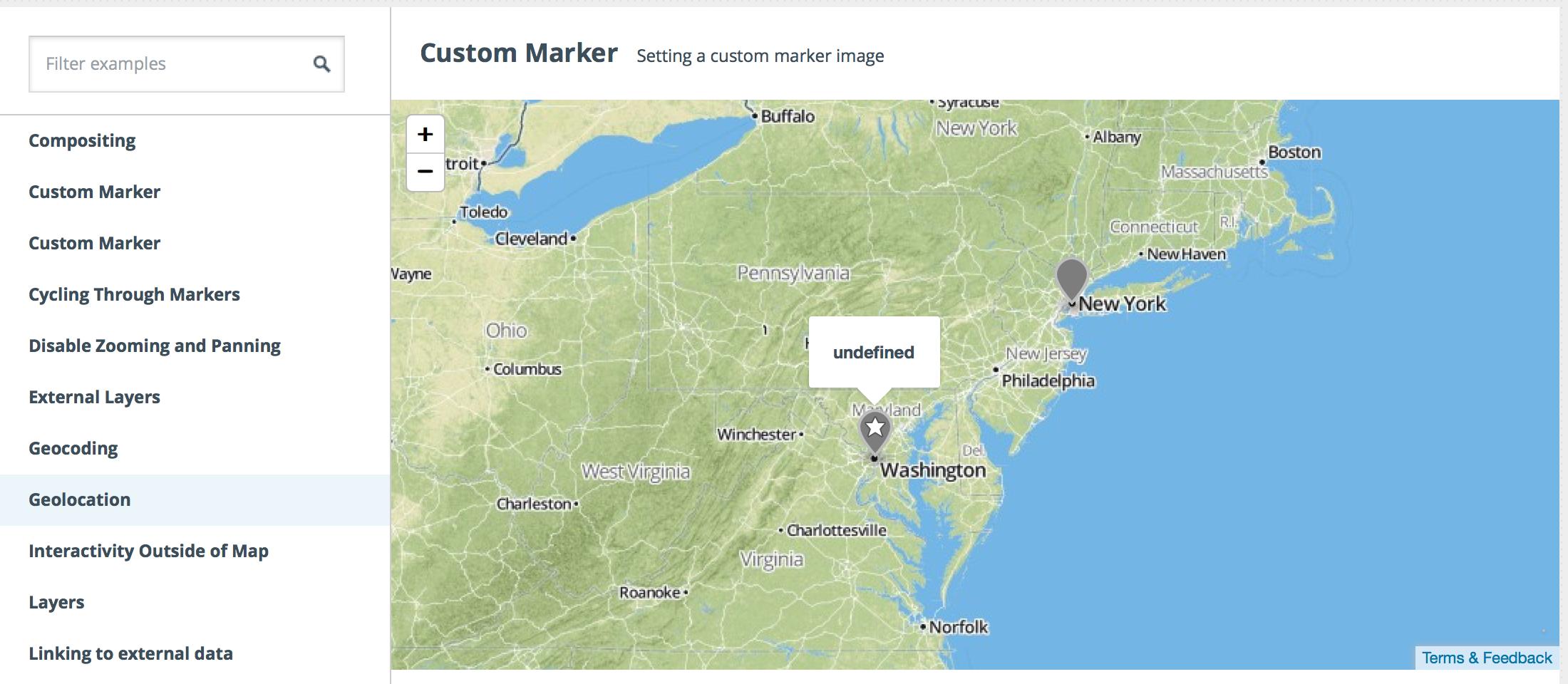 Custom marker example broken in Firefox · Issue #347 · mapbox/mapbox