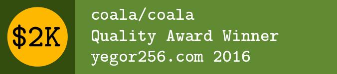 Awards - Yegor256 2016 Winner