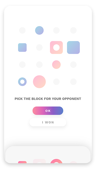 pick the block for your opponent