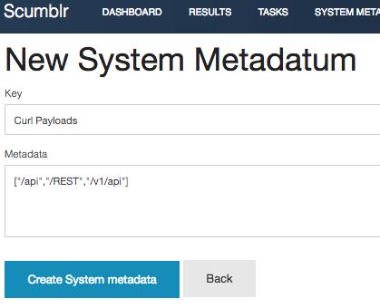 System Metadata · Netflix-Skunkworks/Scumblr Wiki · GitHub
