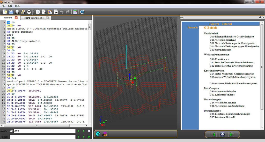 Screenshot of jViewer 3D Visualizer Window
