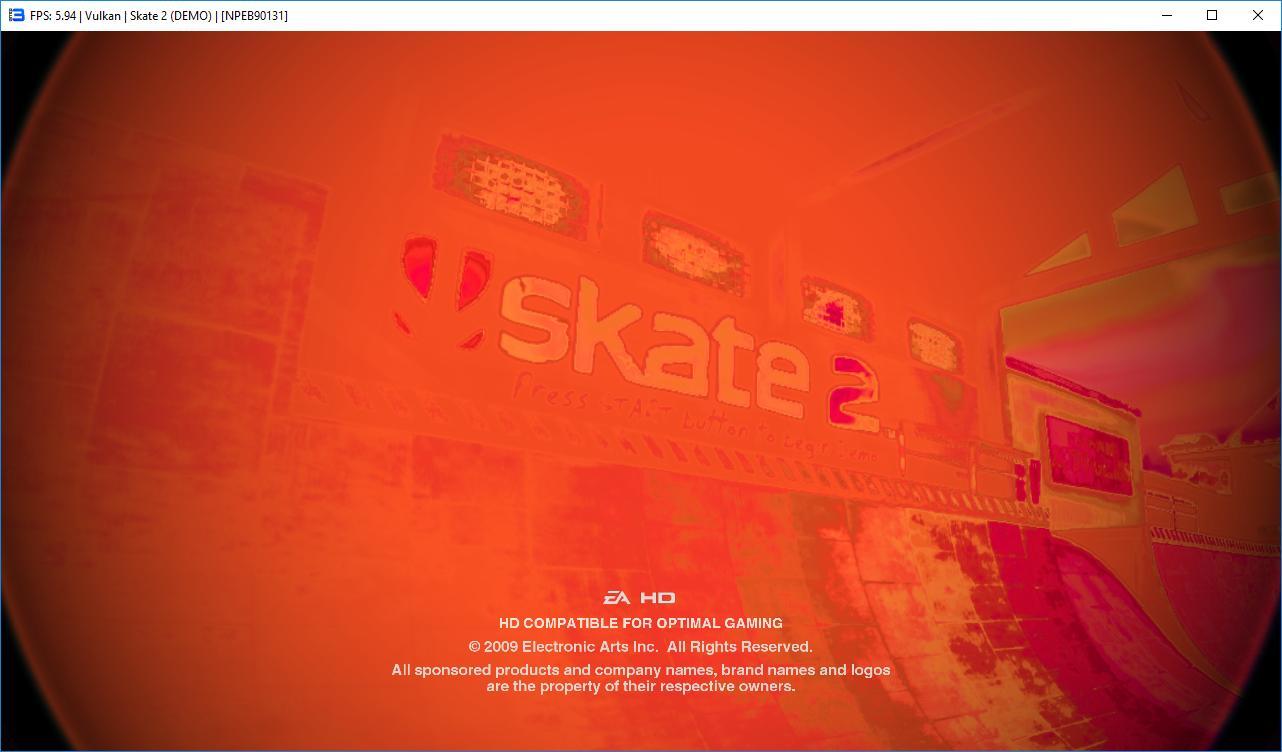 GL/Vulkan: Skate 2 · Issue #2383 · RPCS3/rpcs3 · GitHub