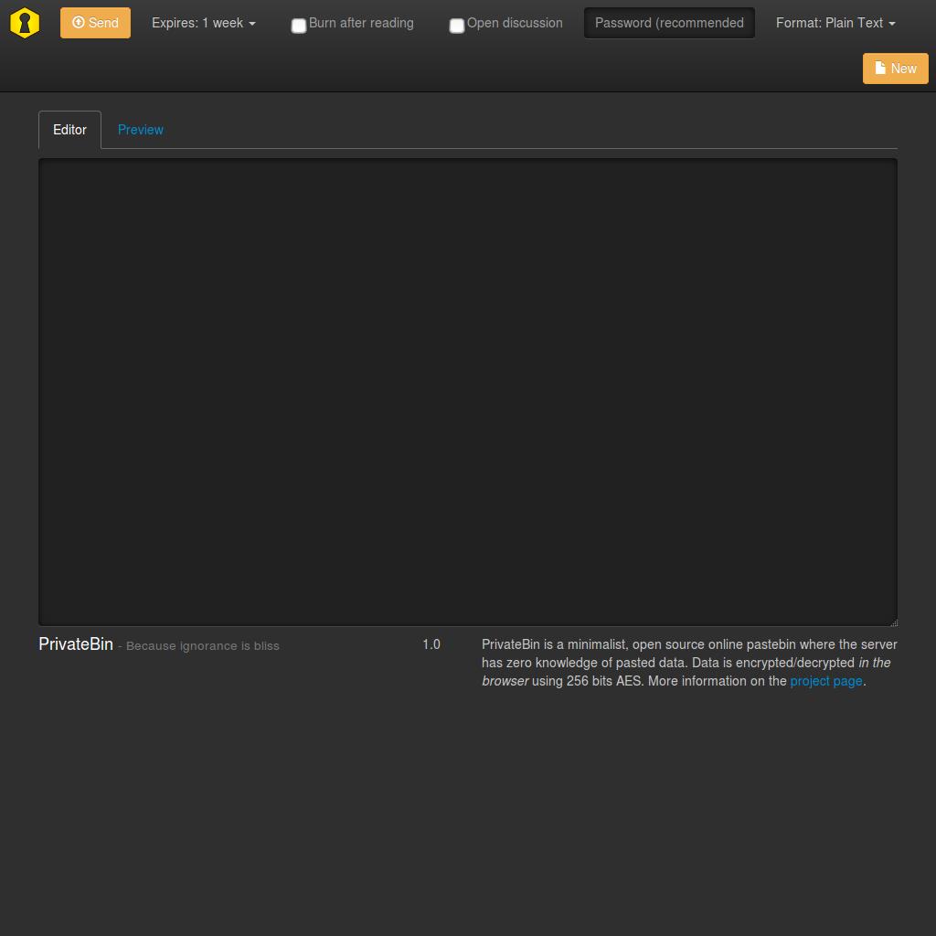 bootstrap PrivateBin template