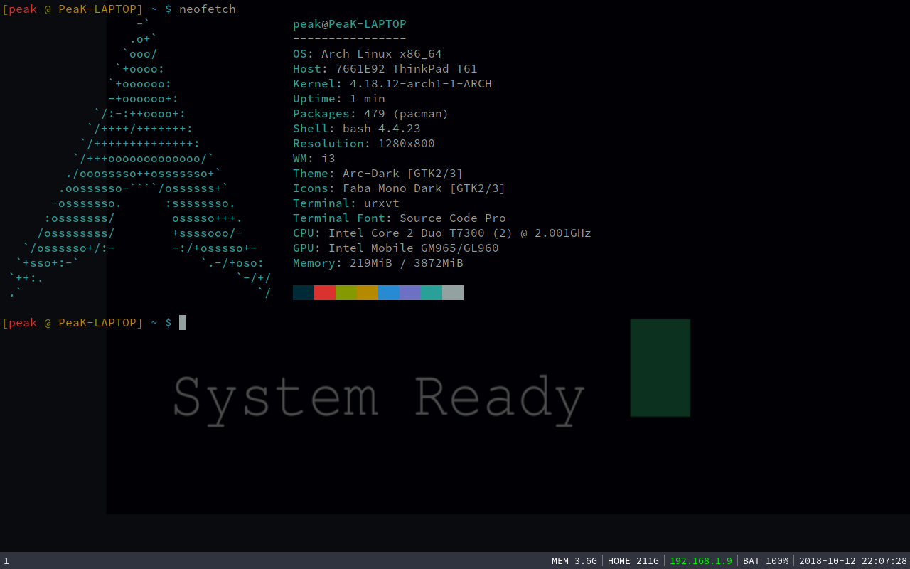 GitHub - PeaKend/Thinkpad-T61-ArchLinux-Installer: Arch Linux
