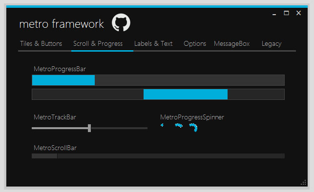 Modern progress bar c#