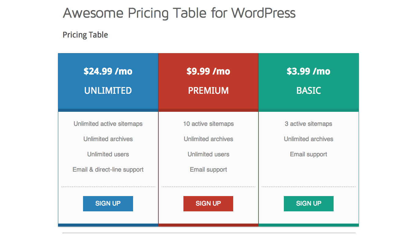 github   mbejda wordpress pricing table pricing table