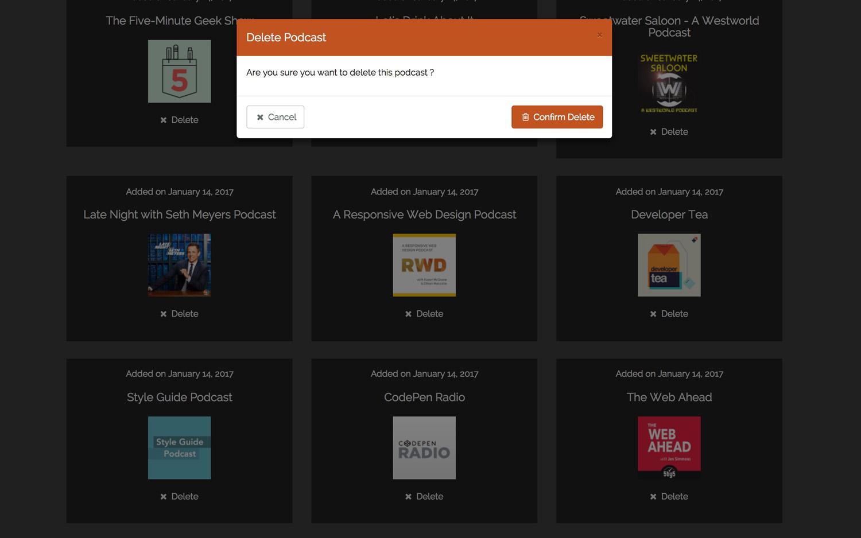 Delete RSS Feed Modal