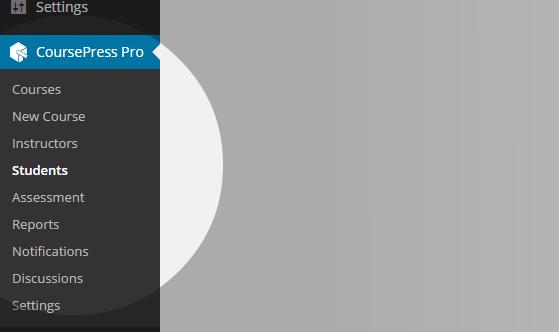 CoursePress - Students menu