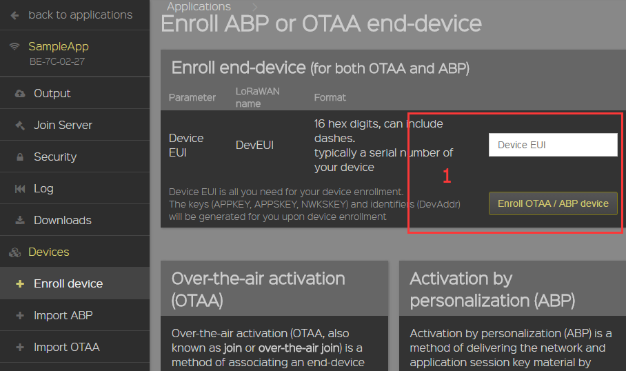 lora how to add application