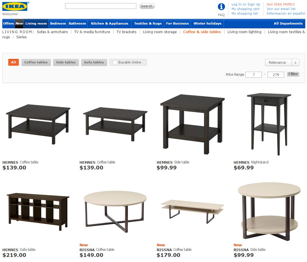 Ikea example page