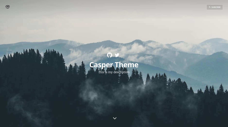 casper theme image