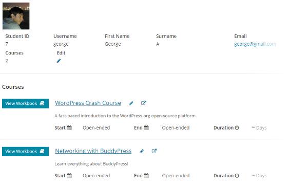 CoursePress - Course - Students - Profile