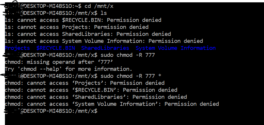 Permission Denied For Folders in Mounted VHDX/VHD in WSL · Issue