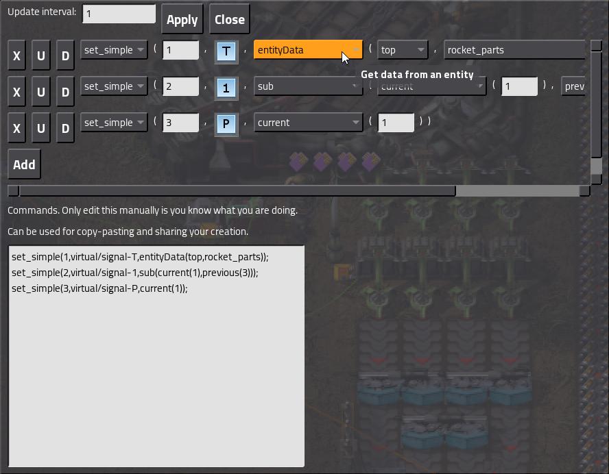 Factorio screenshot of Advanced Combinator