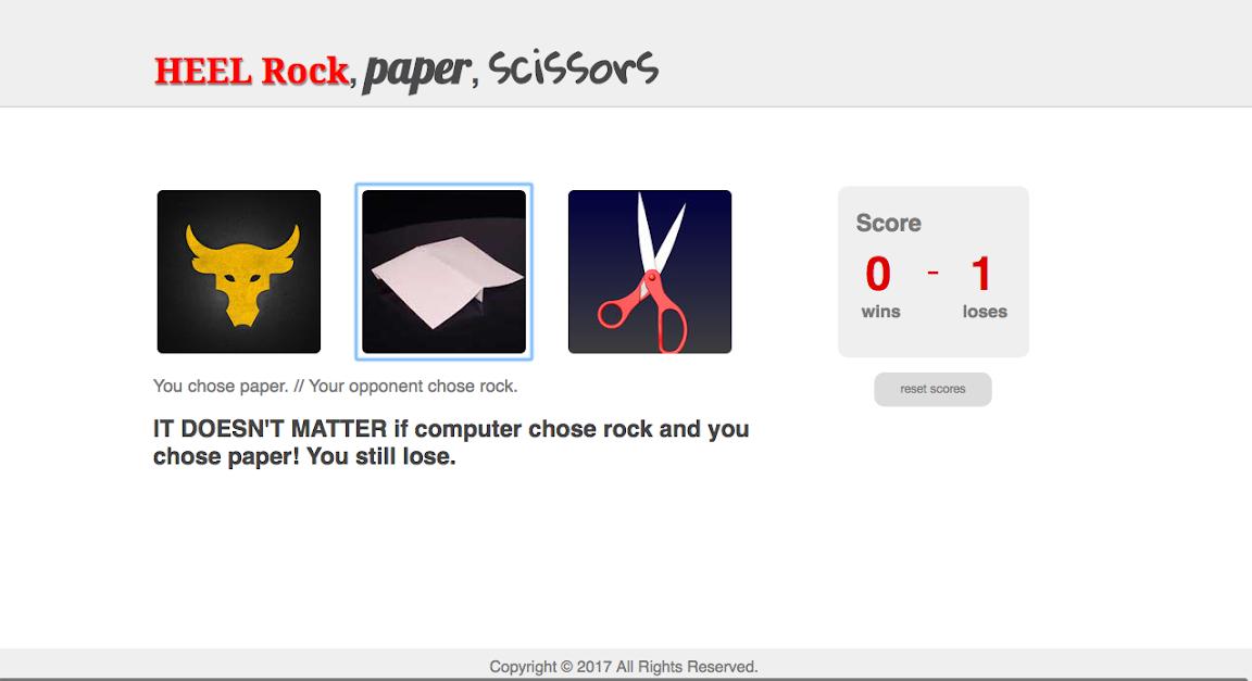 HEEL Rock Paper Scissors