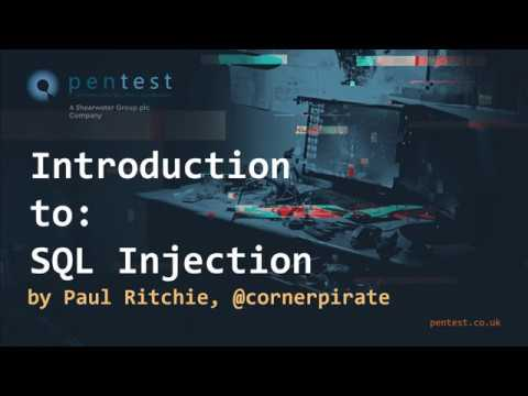 Intro to SQL Injection