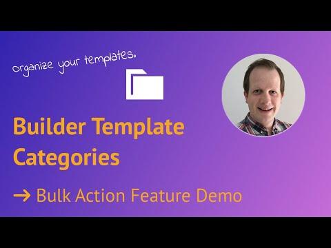 Video of adding template categories via Bulk Action - Live Demo and Walkthrough