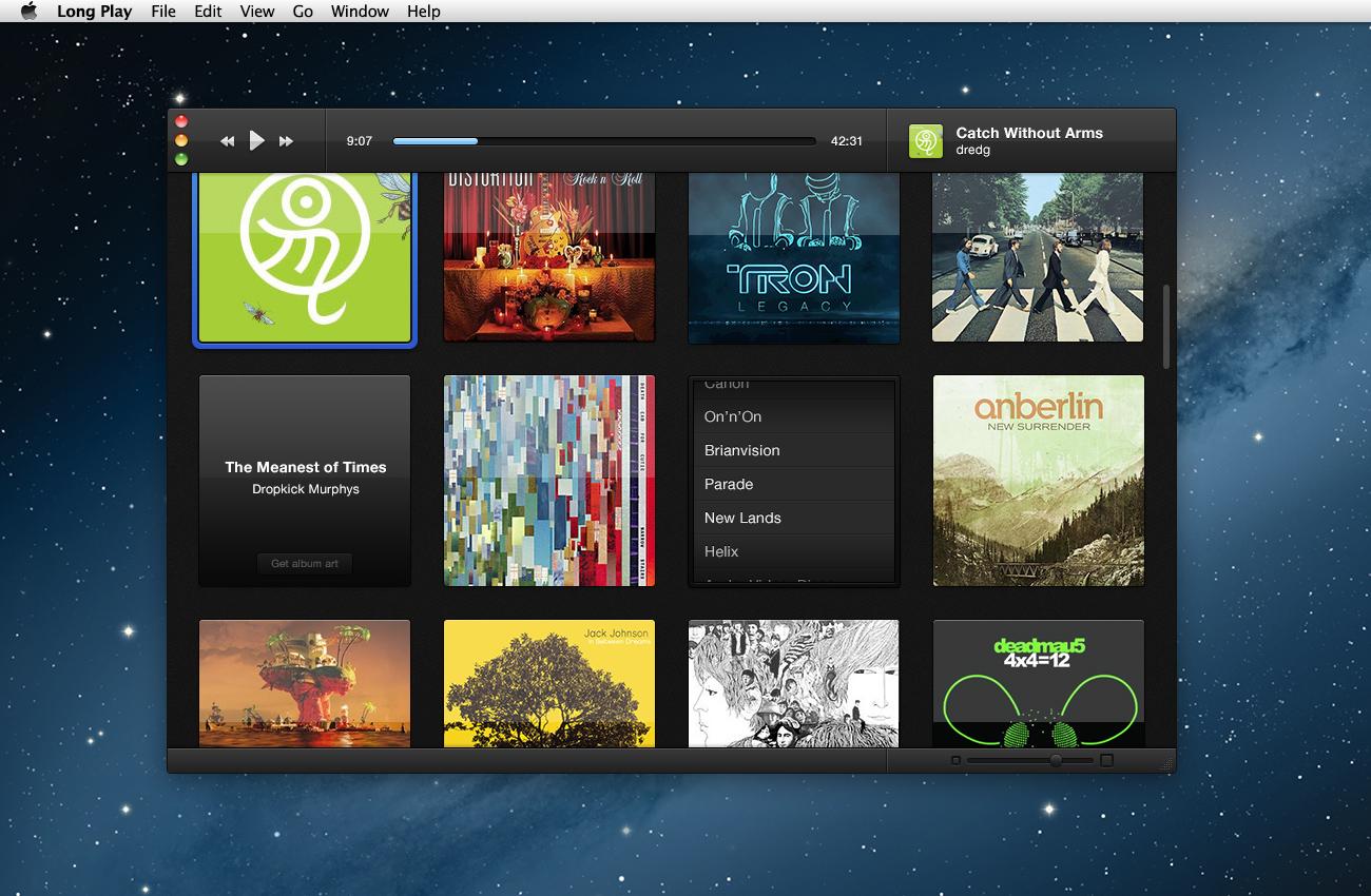Album select screen
