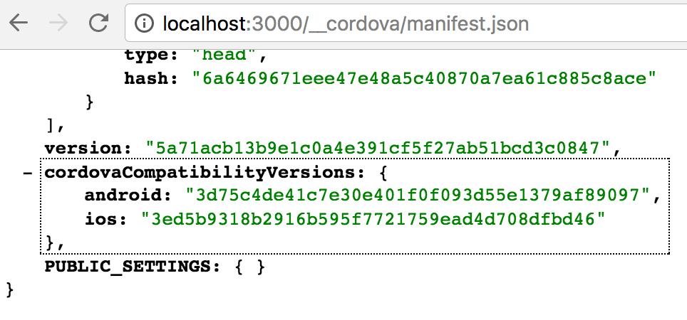 cordovaCompatibilityVersions