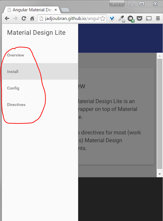 Nav links not working with (responsive) drawer layout · Issue #3