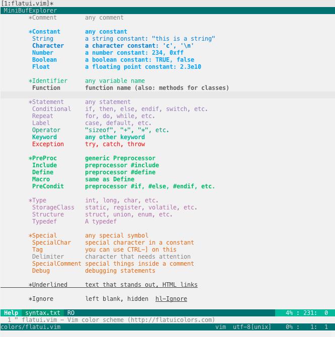 FlatUI highlight groups