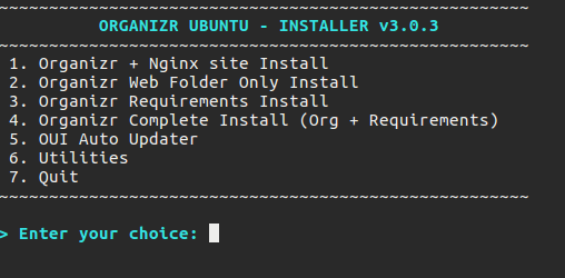 GitHub - elmerfdz/OrganizrInstaller: Automated install script for