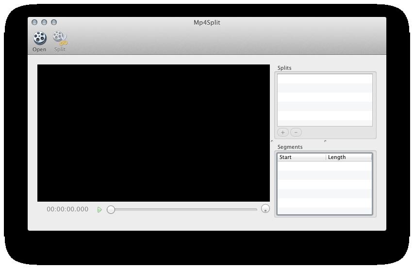 Mp4Split Application Startup.