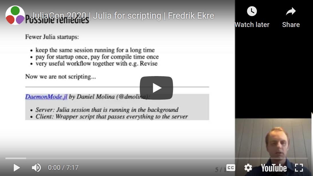 DaemonMode in JuliaCon