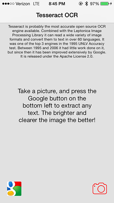 GitHub - jpwiddy/TesseractOCR_iOS7-Sample: Sample iOS 7