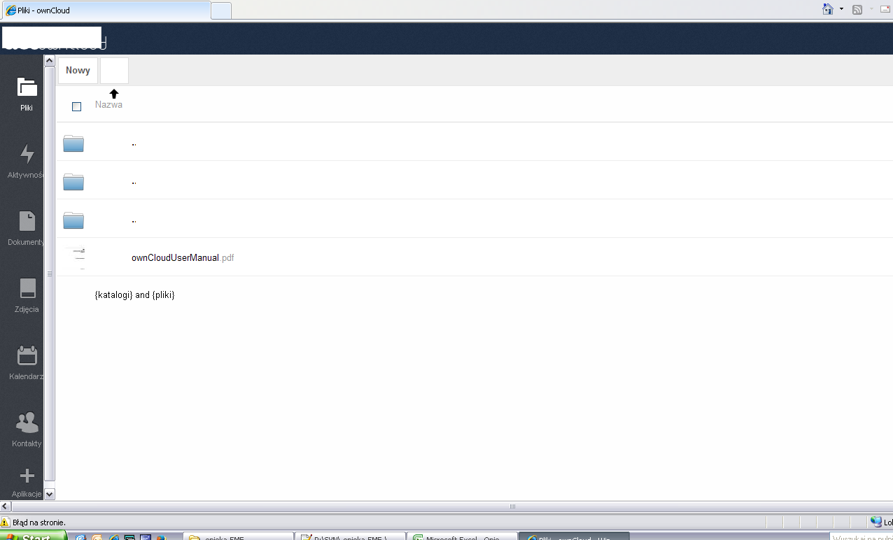 ownCloud 6 effectively not working with Internet Explorer behind