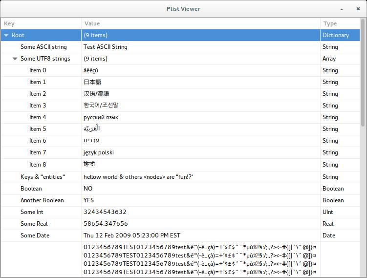 plist-viewer screenshot