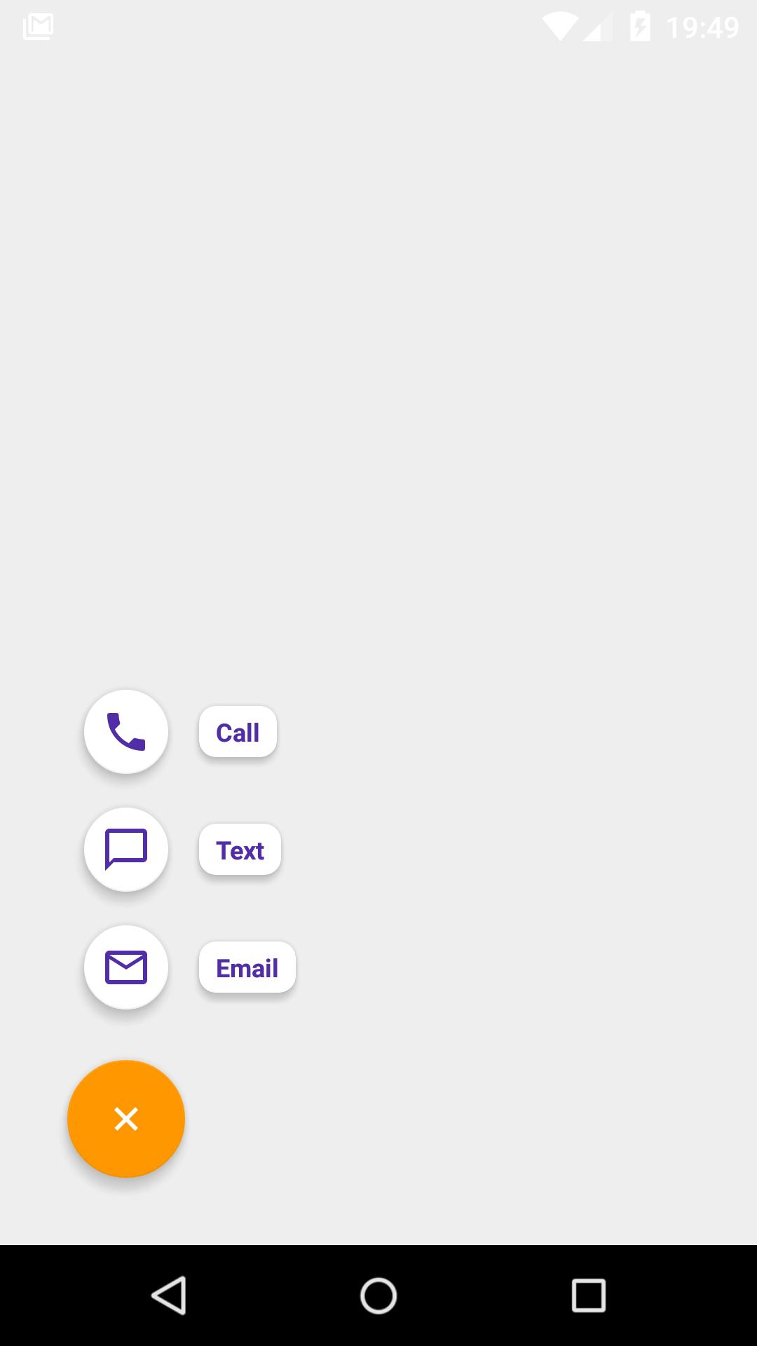 GitHub - yavski/fab-speed-dial: FAB flinging out actionable menu