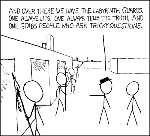 xkcd: Labyrinth Puzzle