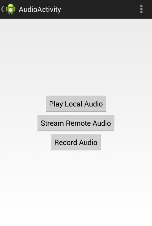 GitHub - codepath/android-audio-video-demo: Android demo for