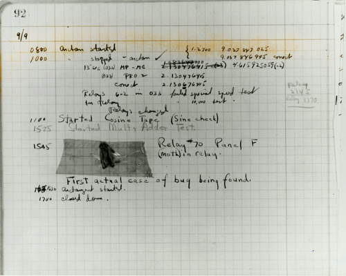 Grace Hopper's Original Bug