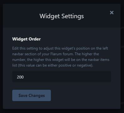 Widget Positive Setting